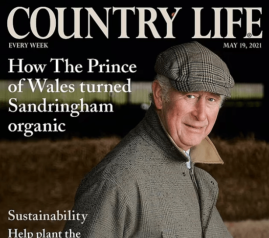Prince Charles on the cover of a magazine