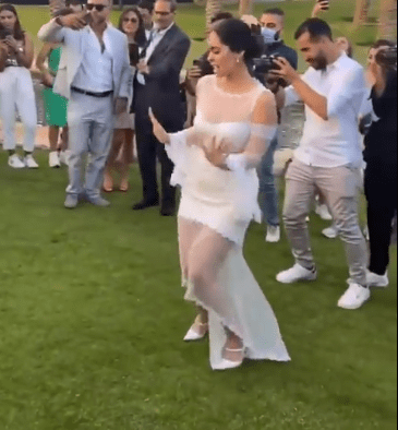 The duo danced at the wedding