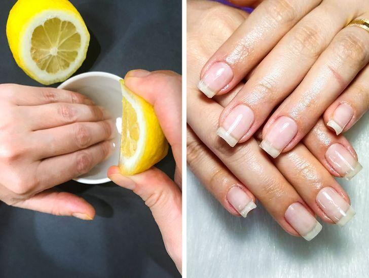 العناية بالأظافر - عصير الليمون