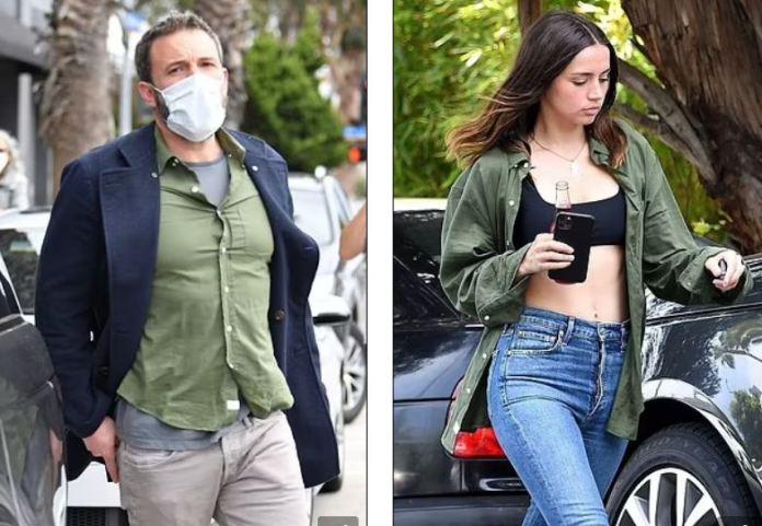Ben Affleck's ex-girlfriend wears his shirt