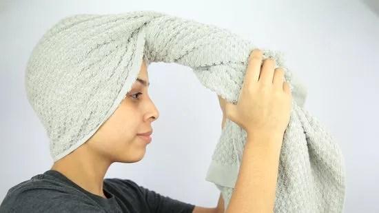 العناية بالشعر - طريقة تجفيف الشعر