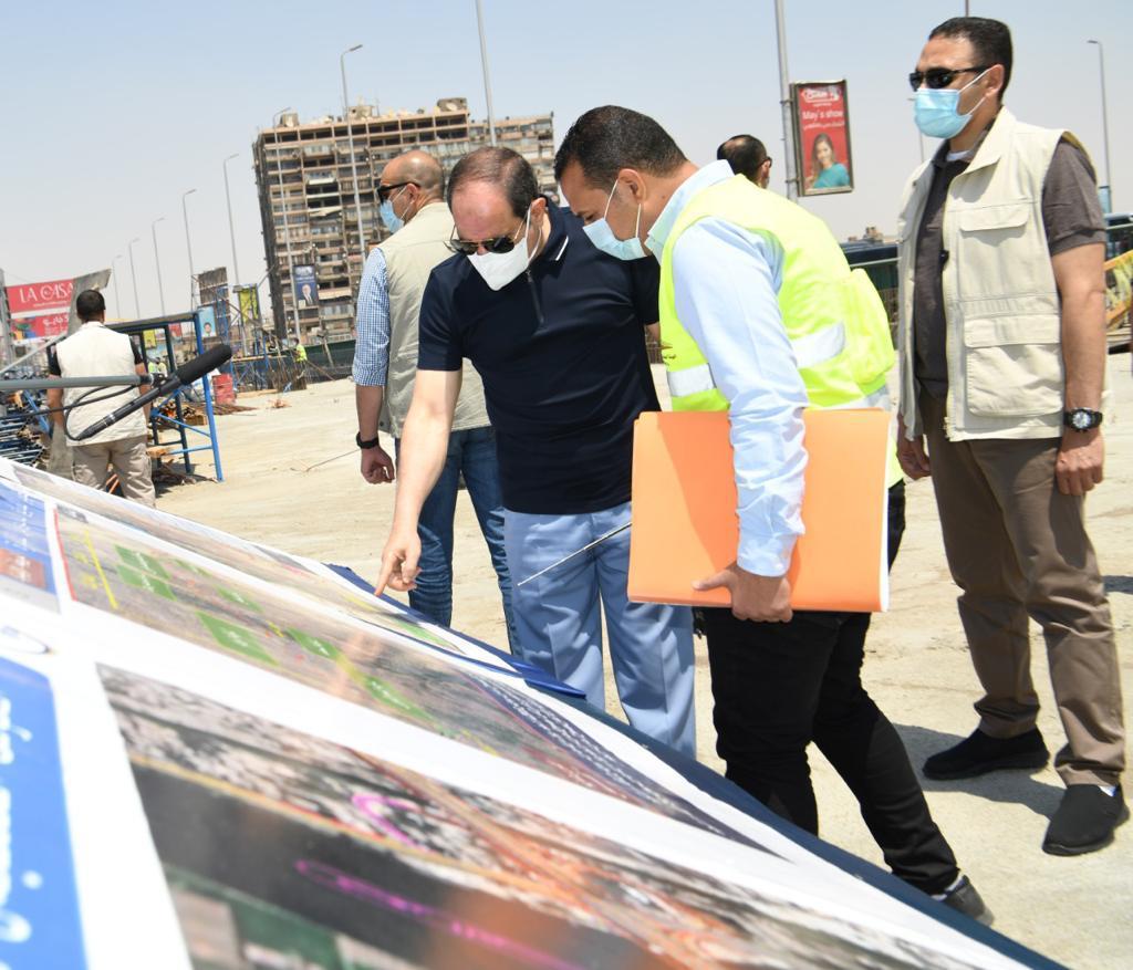 الرئيس السيسى يتفقد أعمال التطوير والصيانة للطريق الدائري (11)