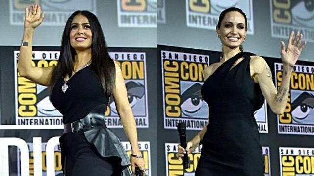 Salma Hayek and Angelina Jolie