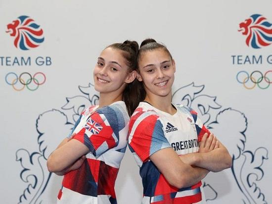 Twins Jennifer and Jessica Gadirova