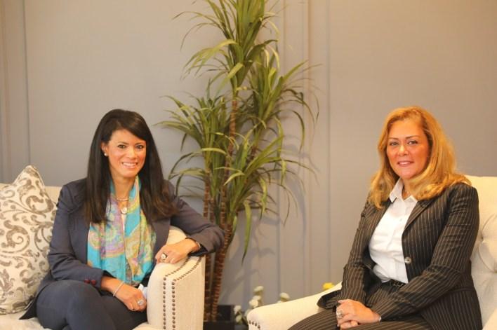 الدكتورة رانيا المشاط والدكتورة رشا راغب