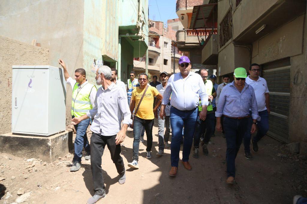جانب من زيارة رئيس المصرية للاتصالات