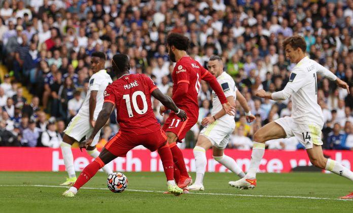 Mohamed Salah scores the goal