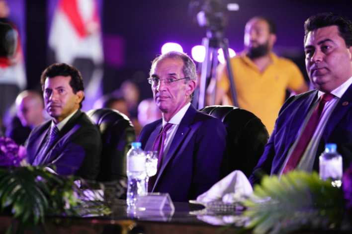 رئيس المصرية للاتصالات ووزير الاتصالات ووزير الرياضة