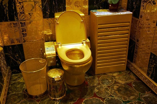Pure gold toilet