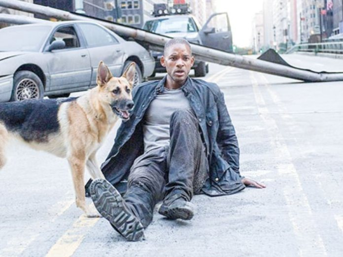 Will Smith and the dog