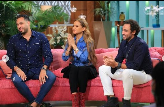 Nelly Karim, Hisham Ashour and Ramy Ashour in the program with you