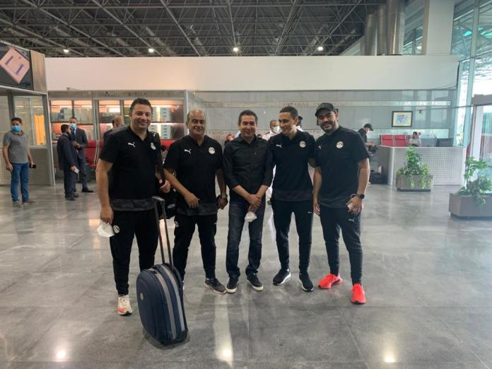 The Egyptian national team arrives at Cairo airport in preparation for travel to Gabon (10)