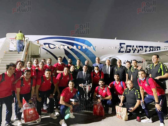 Al-Ahly delegation arrives in Cairo crowned with the title of African Cup Winners' Cup (1)