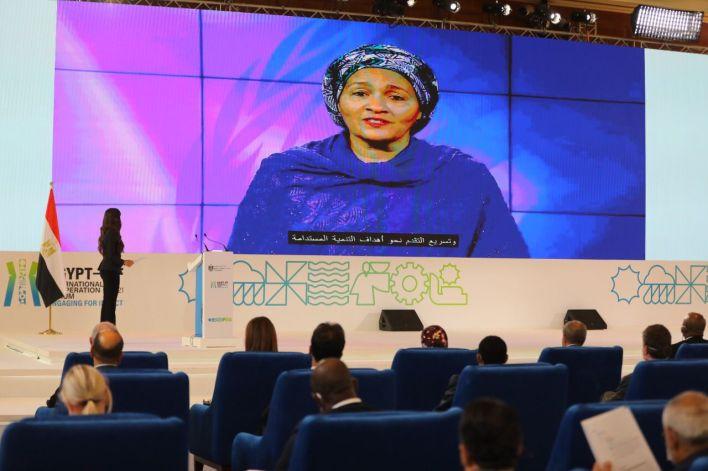 نائب الأمين العام للأمم المتحدة خلال كلمتها