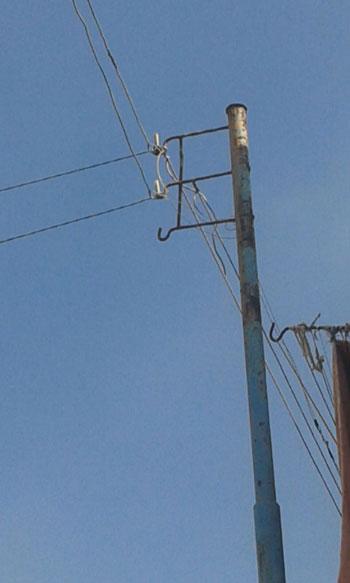 صحافة المواطن ، سرقة الكهرباء ، محافظة الدقهلية ، اسلاك كهربائية ، مركز بلقاس،  (2)