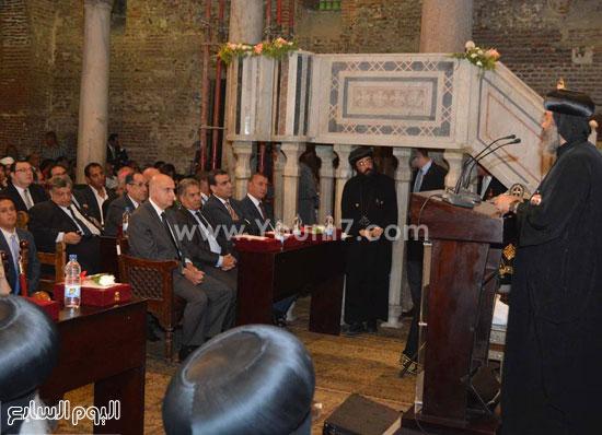 البابا خلال كلمته بالاحتفالية -اليوم السابع -6 -2015