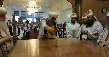 البابا تواضروس يدشن كنيسة أبوسفين