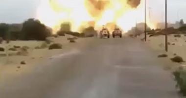 جانب من العمليات الإرهابية فى سيناء