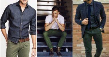 قاموس الموضة الرجالىبالصور ازاى تلبس البنطلون الزيتى بـ 5