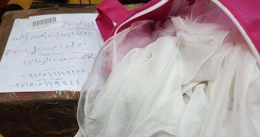 جمارك البضائع تحبط تهريب حشيش وترامادول للإمارات داخل فستان سواريه