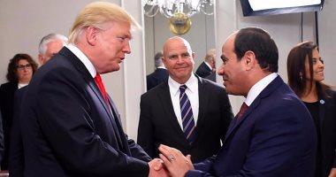 بالصور.. السفارة الأمريكية تنشر صور لقاء الرئيسين السيسى وترامب فى نيويورك