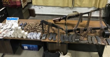 أمن سوهاج يستهدف حائزى الأسلحة النارية ويضبط رشاشا و29 قطعة سلاح