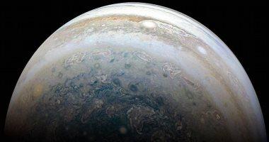 """201807041245204520 - مركبة الفضاء """"جونو"""" ترسل صورة جديدة لكوكب المشترى عن قرب"""