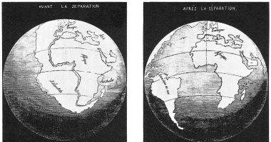 الانجراف القارى هكذا كانت أفريقا وأمريكا الجنوبية قارة واحدة