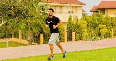 """طارق حامد يخوض تدريبات منفردة فى """"الجيم"""" رغم إجازة الزمالك"""