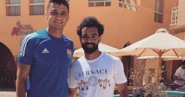 جلسة تصوير لمحمد صلاح مع لاعبي الجونة على هامش إجازته فى مصر