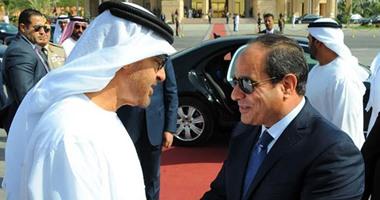 رئاسة الجمهورية: السيسى يزور الإمارات غدا لمدة يومين