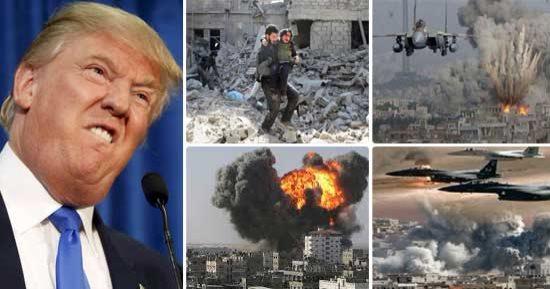 شاهد فى دقيقة قصة صواريخ أمريكية ذكية أطلقها ترامب على سوريا