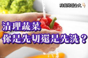 清理蔬菜你是先切還是先洗呢?-台灣養生網