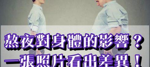 熬夜對身體好不好!一張照片看出熬夜差異!-台灣養生網