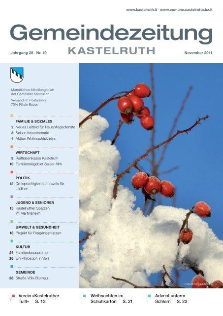 Gemeindezeitung Kastelruth Ausgabe November 2011 6 69 Mb