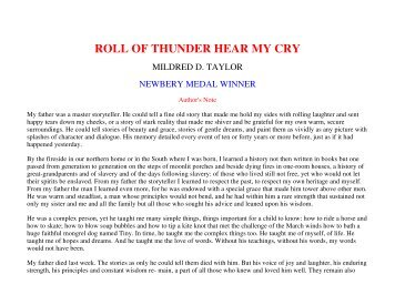 roll of thunder hear my cry full poem co roll of thunder hear my cry teaching unit montgomery county