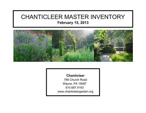 Chanticleer Master Inventory