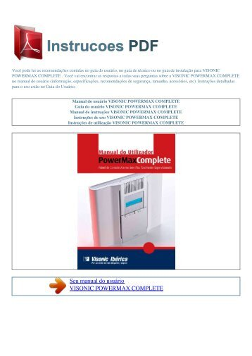 Visonic Powermax Pro Manual Download