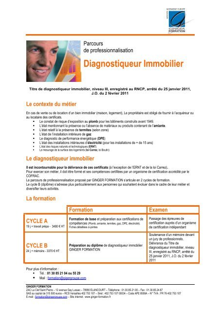 Diagnostiqueur Immobilier Carif Ile De France