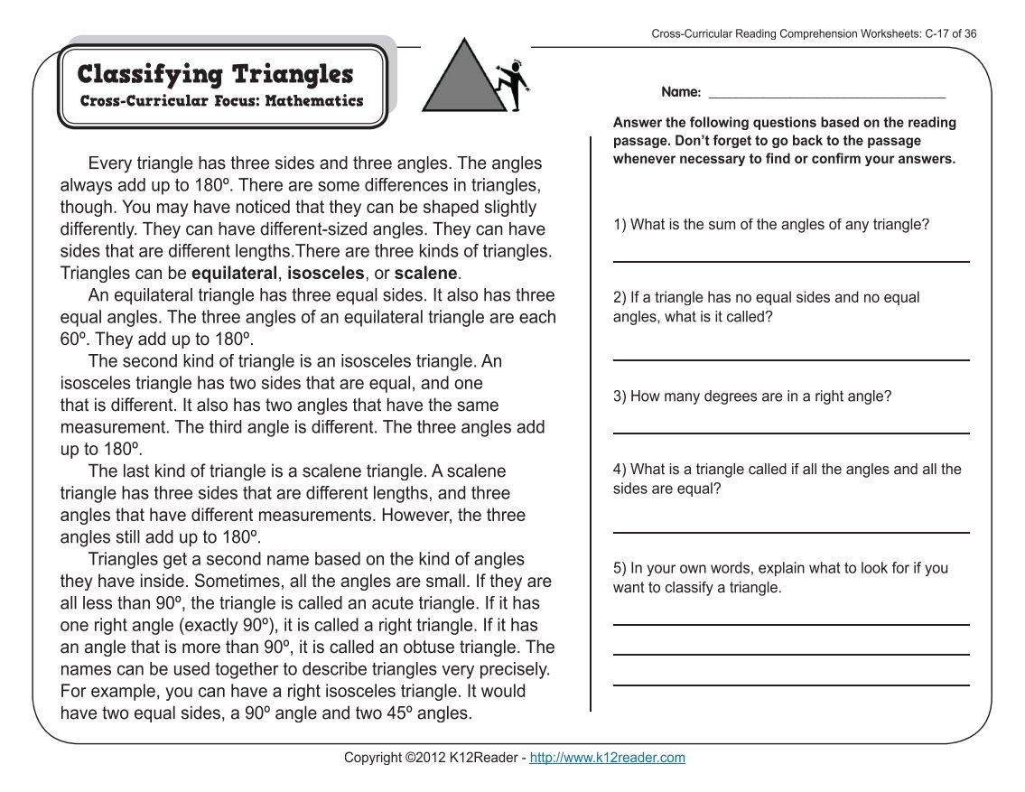 Worksheets 5 Grade Reading Worksheets Waytoohuman Free