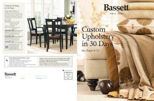 bassett custom upholstery design