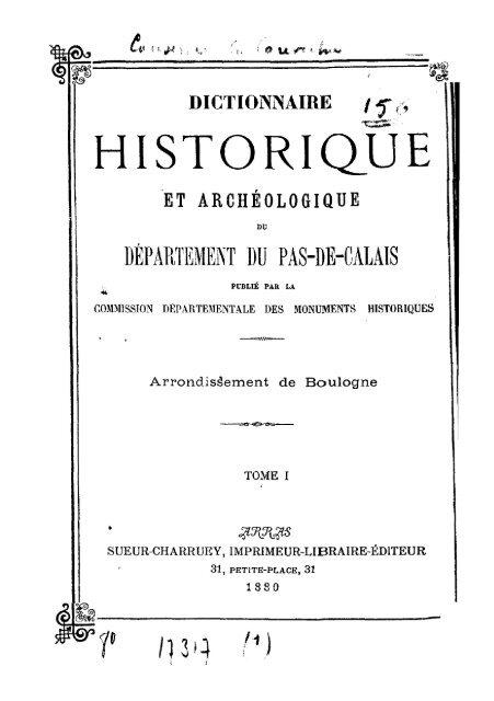 arrondissement de boulogne tome 1