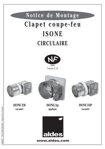 Clapet Coupe Feu ISONE 1500 Aldes
