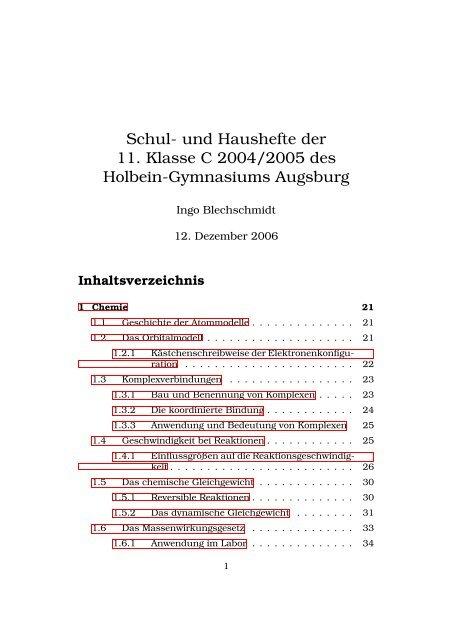 Schul Und Haushefte Der 11 Klasse C 2004 2005 Des Holbein
