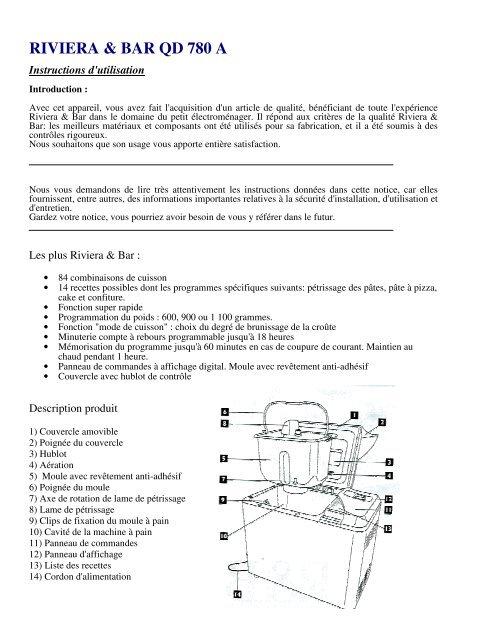 riviera bar qd 780 a supertoinette