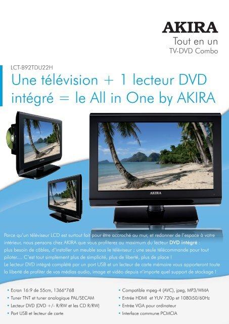 une television 1 lecteur dvd integre