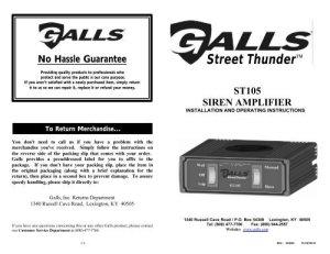 Galls Street Thunder Slimline Wiring Diagram  Wiring Diagram