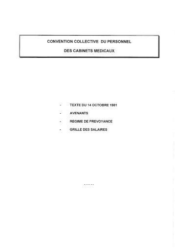 lexeek convention collective nationale du personnel des cabinets medicaux du