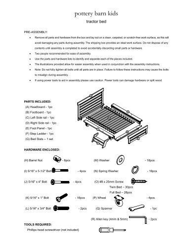 A 01 Parts List Hardware