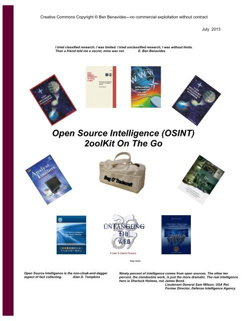 2013 07 11 Osint 2ool Kit On The Go Public Intelligence Blog